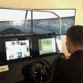 STORM SIM installed Small Craft Simulator to the River port of Termiz city (Uzbekistan)