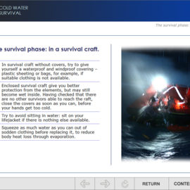 "STORM SIM has developed new version of E-learning module ""Cold Water Survival"""