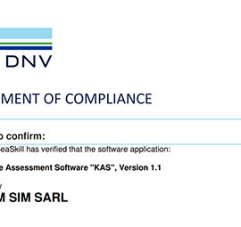 """STORM SIM's Knowledge Assessment Software """"KAS"""" is Certified by DNV and Available Now"""